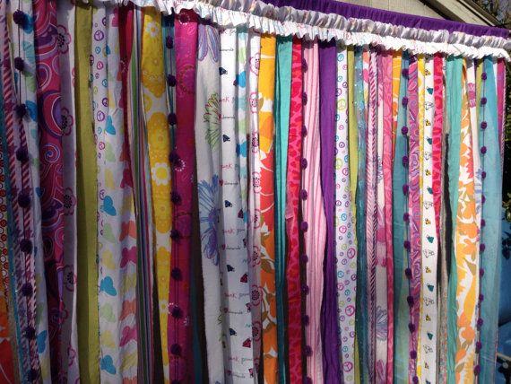 shower curtain boho bold fun whimsical with rod pocket