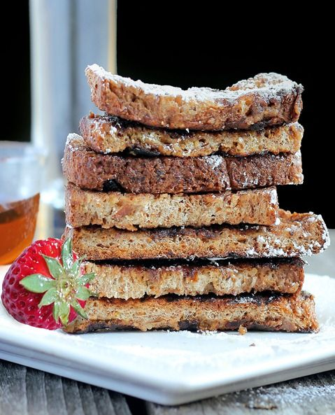 French Toast... to-go! A fun, healthy alternative if you're bored of oatmeal.