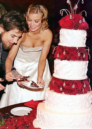 Carmen Electra and Dave Navarro's Wedding Cake