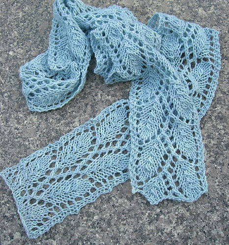 Leaf lace knit scarf Knitting Patterns Pinterest