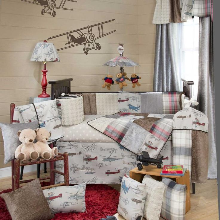 Plane bedding home pinterest - Airplane baby bedding sets ...
