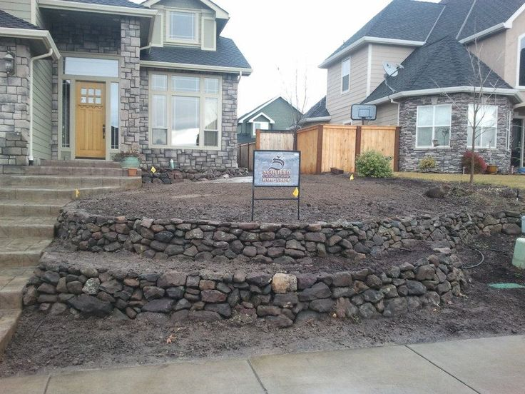Rock retaining wall outdoor ideas pinterest