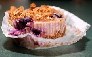 Individual blueberry cheesecakes (made with greek yogurt, no cheese!)