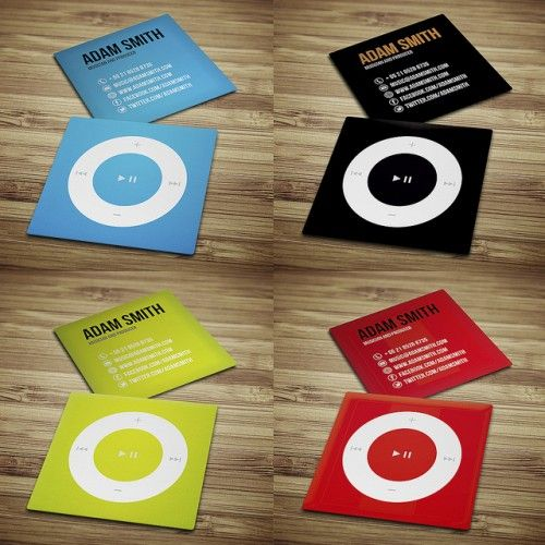 Mini Music Business Card Designs