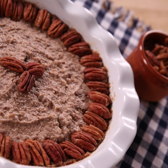 Raw pecan pie. So rich-tasting and delicious.