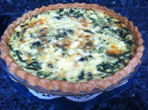 Spinach, Feta and Asparagus Pie-- ADD potatoes and pimentos.