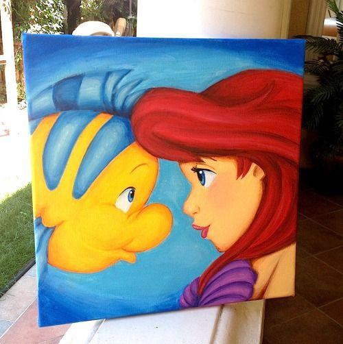 Tumblr-12X12 Little Mermaid Canvas | Mermaids | Pinterest