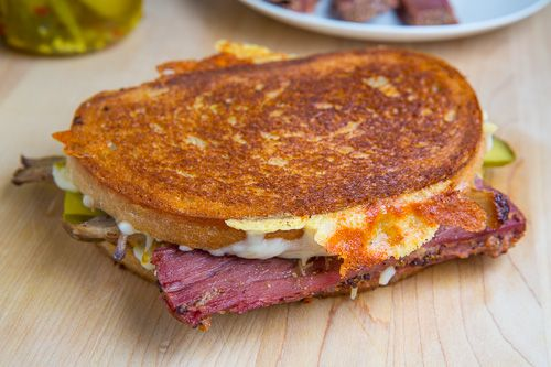 St Patrick's Day Corned Beef Cuban Grilled Cheese Sandwich   Recipe