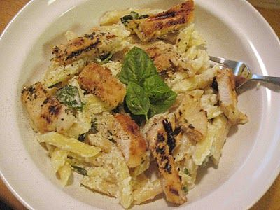 Sisters in the Kitchen: Grilled Chicken with Lemon Basil Pasta