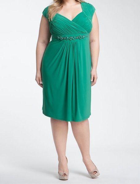 Adrianna Papell Green Dress Plus 18W