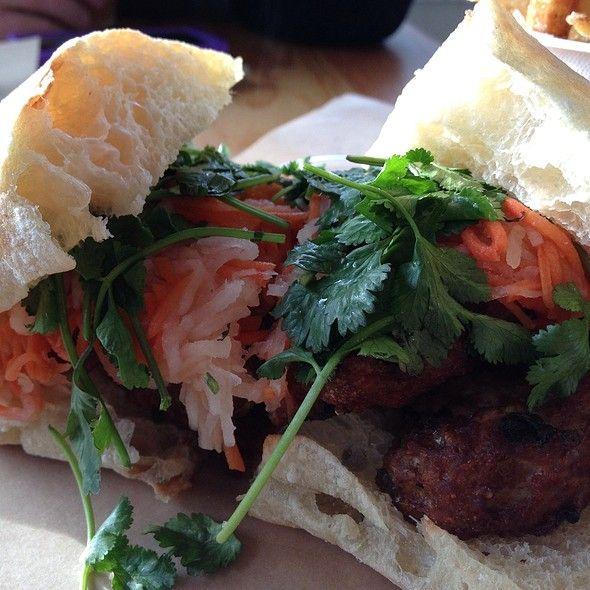 Pork meatball banh mi at Lardo | Portland | Pinterest