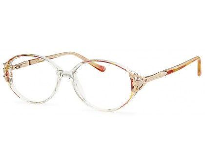 oval plastic glasses. Michelle frame in Burgundy with ...