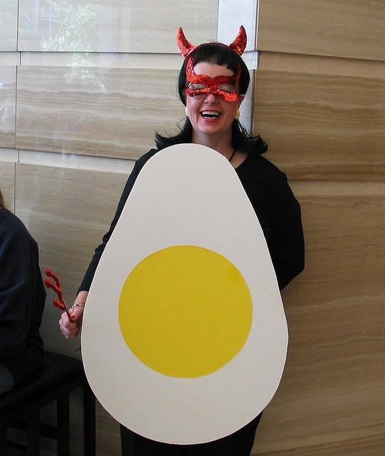 halloween costume deviled egg