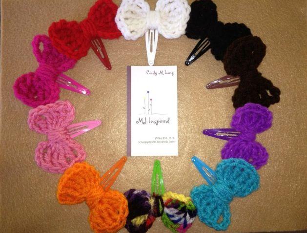Crochet Hair Clips Pinterest : Crochet hair clips My Creations! Pinterest