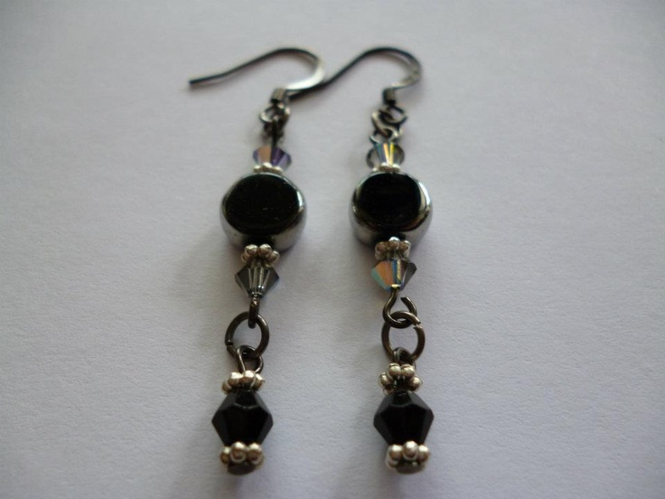 black and silver earrings clariebug jewels