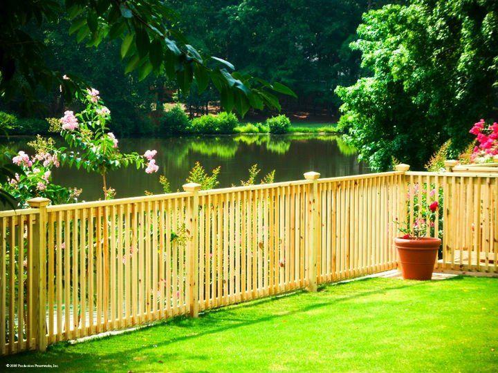 Picket Fence Designs Backyard Outdoor Ideas Pinterest