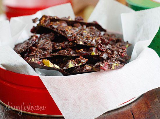Cranberry Pistachio Dark Chocolate Bark = 4 Weight Watcher Points ...