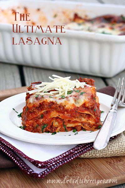 The Ultimate Lasagna   Recipe