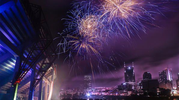 Fireworks in Nashville, TN.