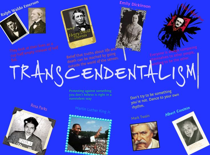 an understanding of transcendentalism Explanation of transcendentalism  the most common answers to this conundrum mobilize the resources of philosophical historiography and refine the understanding.