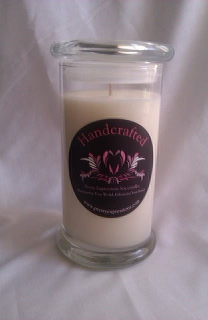 Soy Candles in 21oz Libbey Stratus Jars