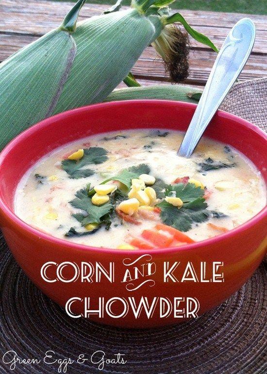Corn and Kale Chowder | Recipe