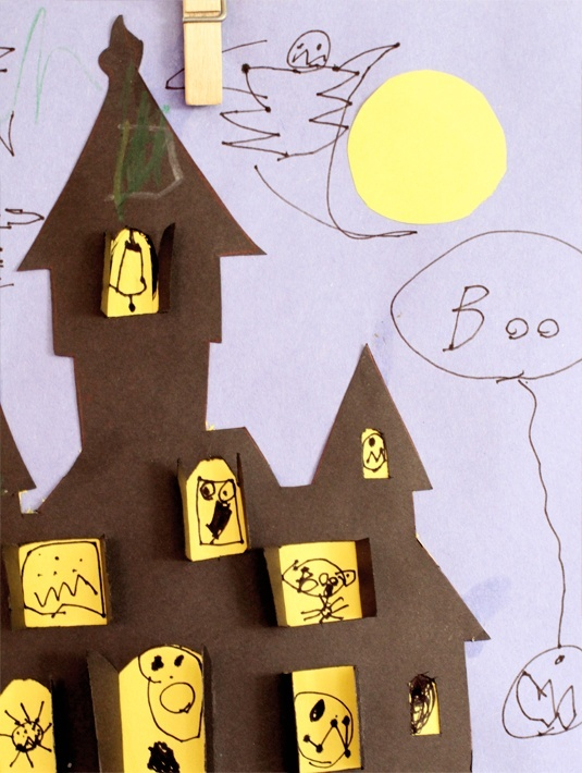 Haunted House Cut Out For The Kids Pinterest