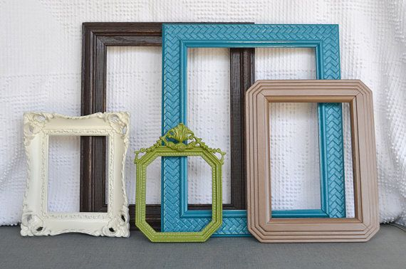 Teal Turquoise Green Espresso Brown Heirloom White - Modern Ornate Fr ...