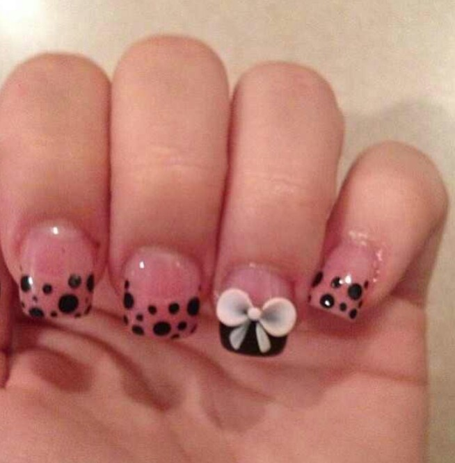 acrylic nail designs with bows nail designs hair styles