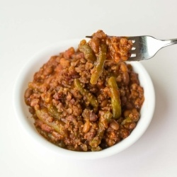 Baked Bean Sausage Casserole recipe   Favorite Recipes   Pinterest