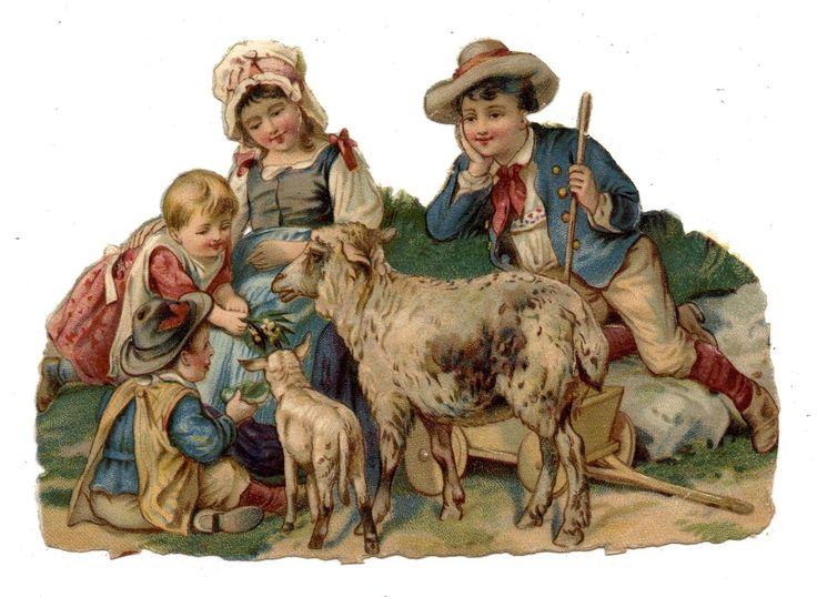 Glanzbilder - Victorian Die Cut - Victorian Scrap -