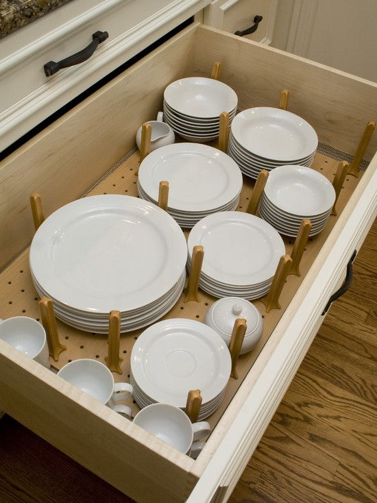 Kitchen Drawer Plate Organizer This Makes So Much More Sense Than