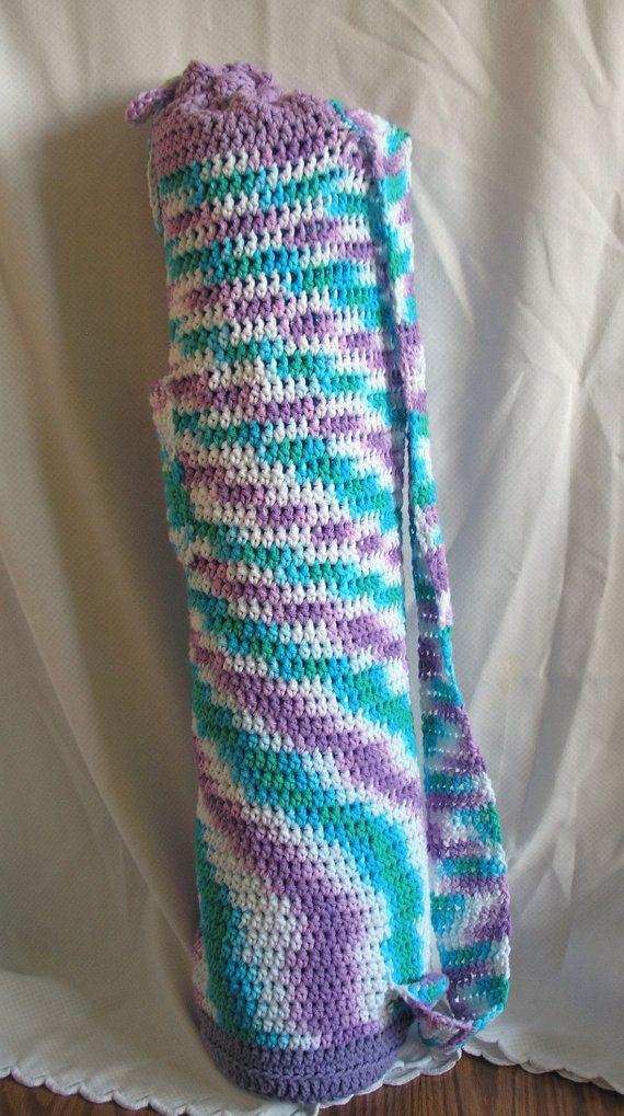 Crochet yoga bag - so cute Z Pinterest