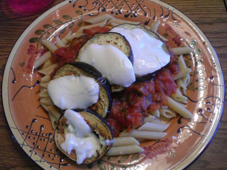 Italian Roasted Eggplant Mozzarella Penne. super quick if you use ...