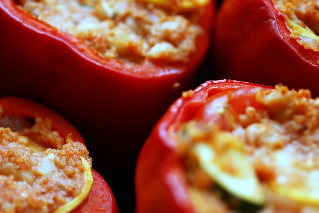 couscous and feta stuffed peppers by smitten kitchen