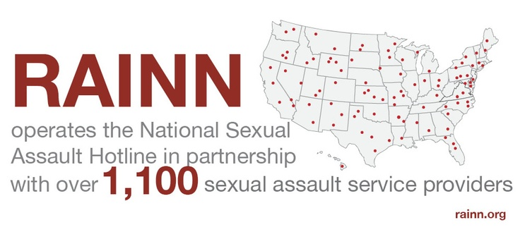 rainn operates the national sexual assault hotline in partnership with