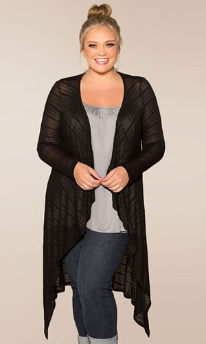 #plussize #plus #size #plussize #plus_size #curvy #fashion #clothes Shop www.curvaliciousclothes.com SAVE 15% Use code: SVE15 at checkout Jamie Knit Cardigan in Black