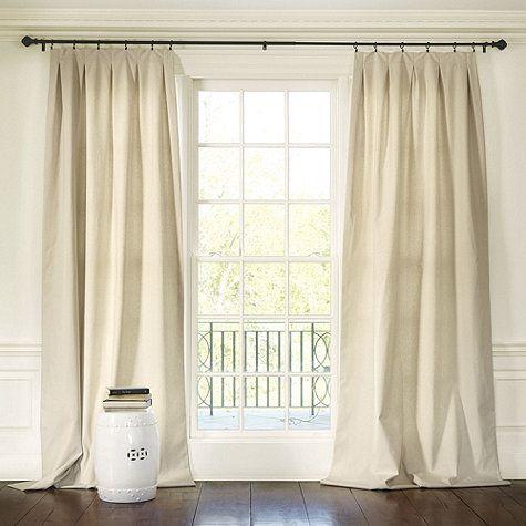 Pleated Curtains For Curtain Box : Box Pleats
