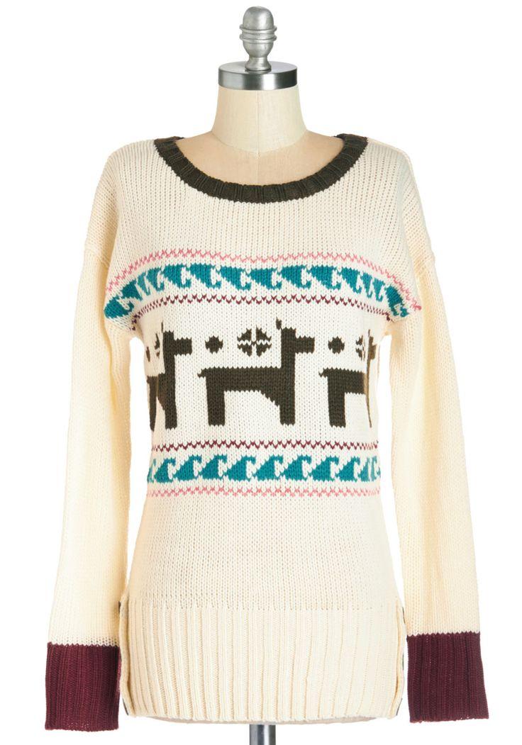 ModCloth Make a Llama Story Short Sweater