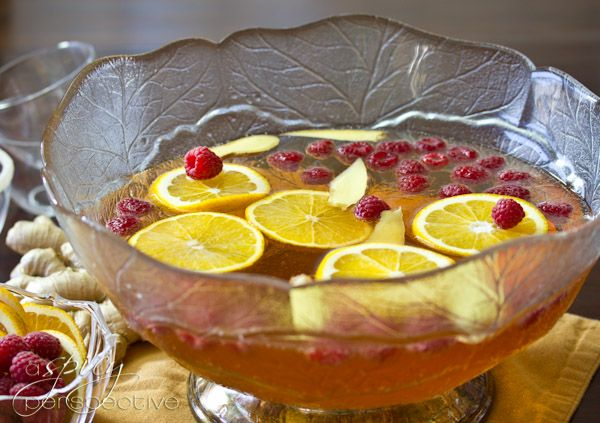 Champagne Punch with Raspberry and Orange Liqueur - A Spicy ...