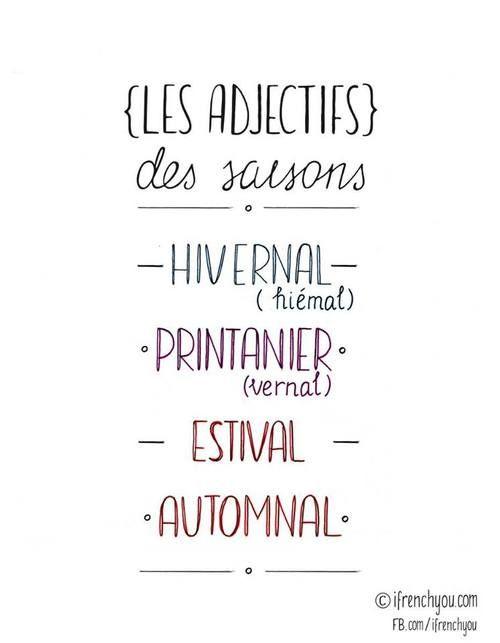 adjectifs