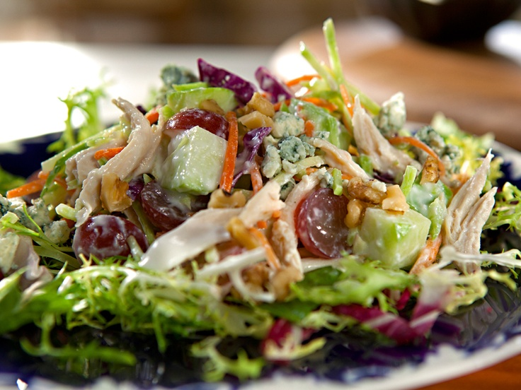 Waldorf Salad w/ broccoli slaw, apples, grapes, bleu cheese, walnuts ...