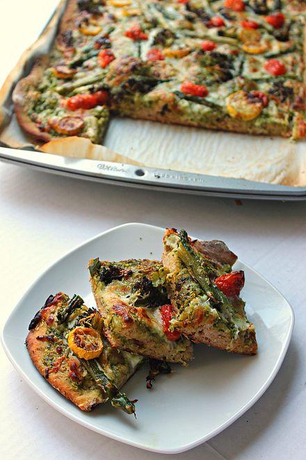 Roasted Vegetable Flatbread | Food | Pinterest