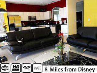 "Living Room, 52in LCD TV, DVD, Wii, WiFi - ""7 Bedroom Villa with pool. Orlando Disney 228932 - Davenport - rentals"