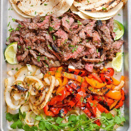 Skirt Steak Fajitas | HH RED MEAT | Pinterest