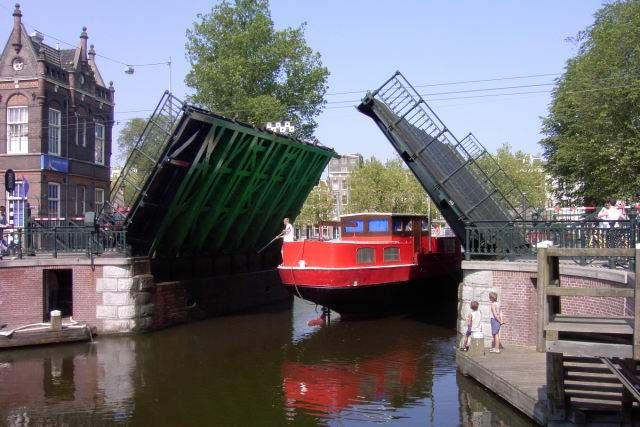 cute little draw bridges for canals in Amsterdam