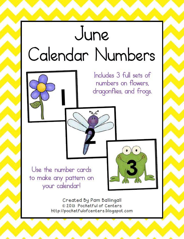 June Calendar Pieces : June calendar numbers