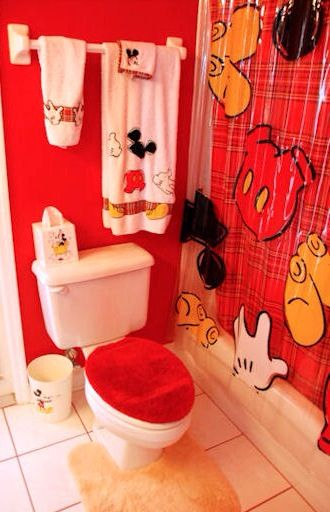Mickey Mouse bathroom set accessories | Everything Mickey, Minnie Mou…