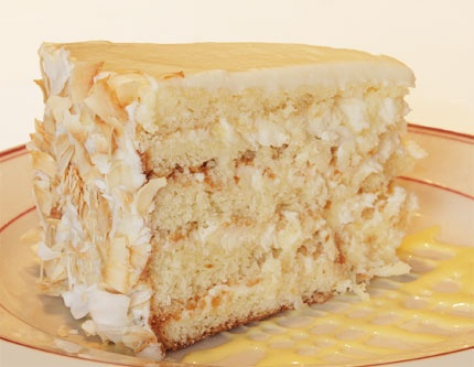 ... Layers of White Cake with Southern Comfort Cream Cheese Icing and