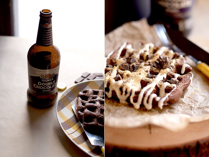 Chocolate Stout Waffles, S'mores Style | Food escapades-Breakfast ...